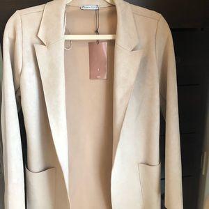 Brand new Suede Zara blazer